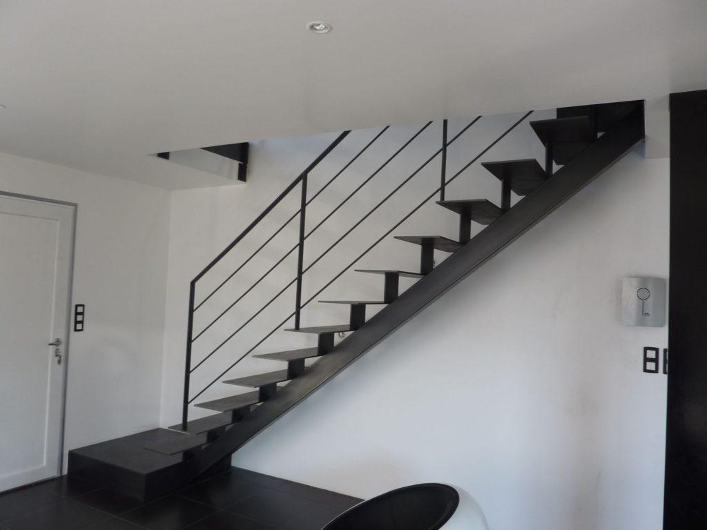 Escalier droit métal intérieur