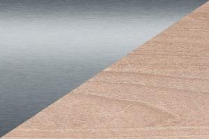 Texture inox/bois